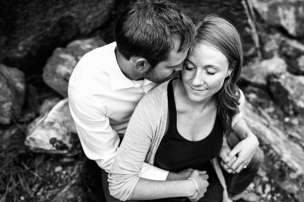 Stunning Black and White Engagement