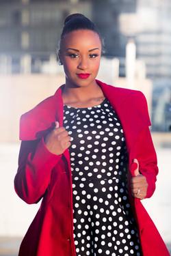 Cool Black Lady Modelling in Alberta