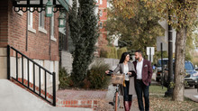 Downtown Fall Engagement Session - Edmonton Portrait Photographer
