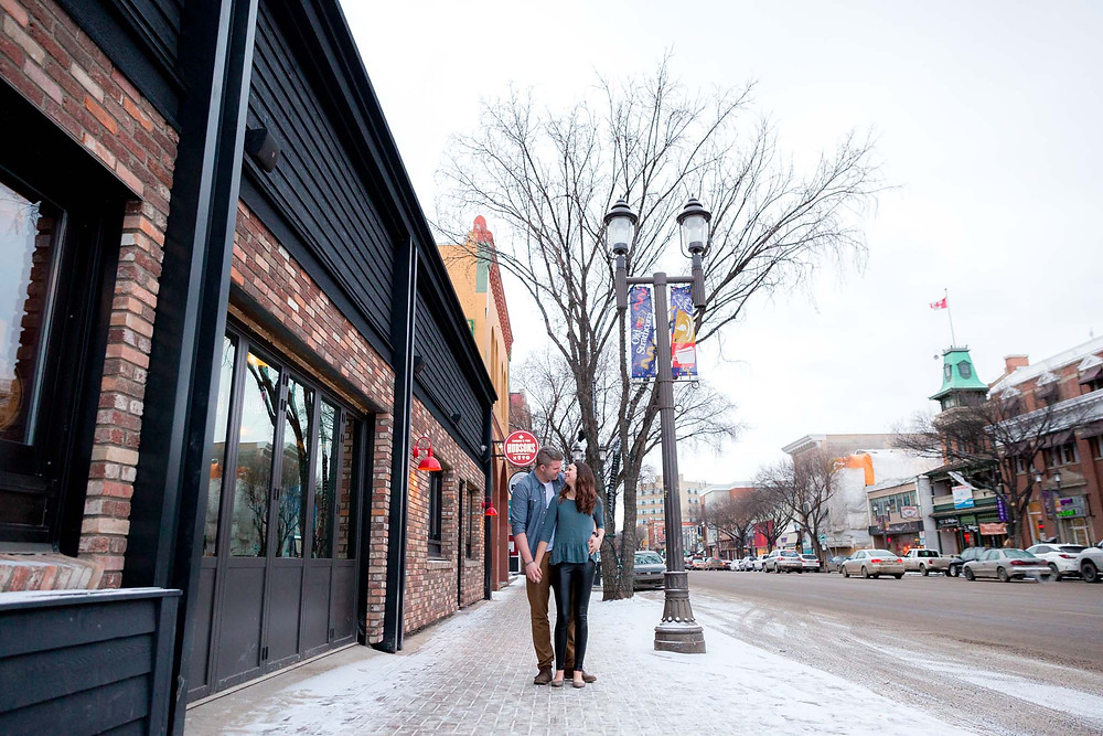 Whyte Ave Engagement Session