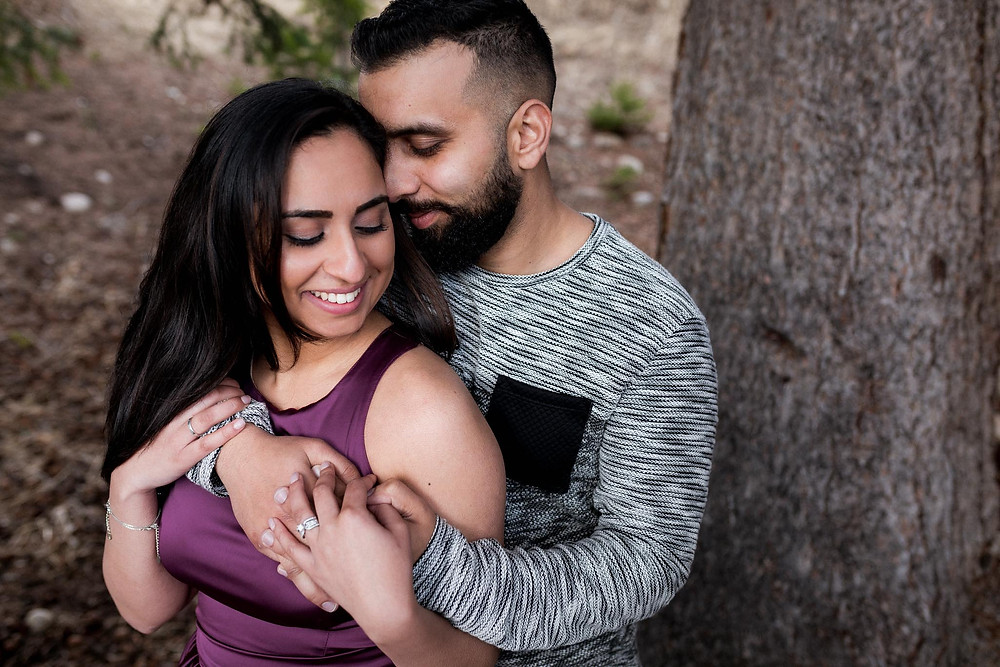 Indian Couple Mountain Engagement