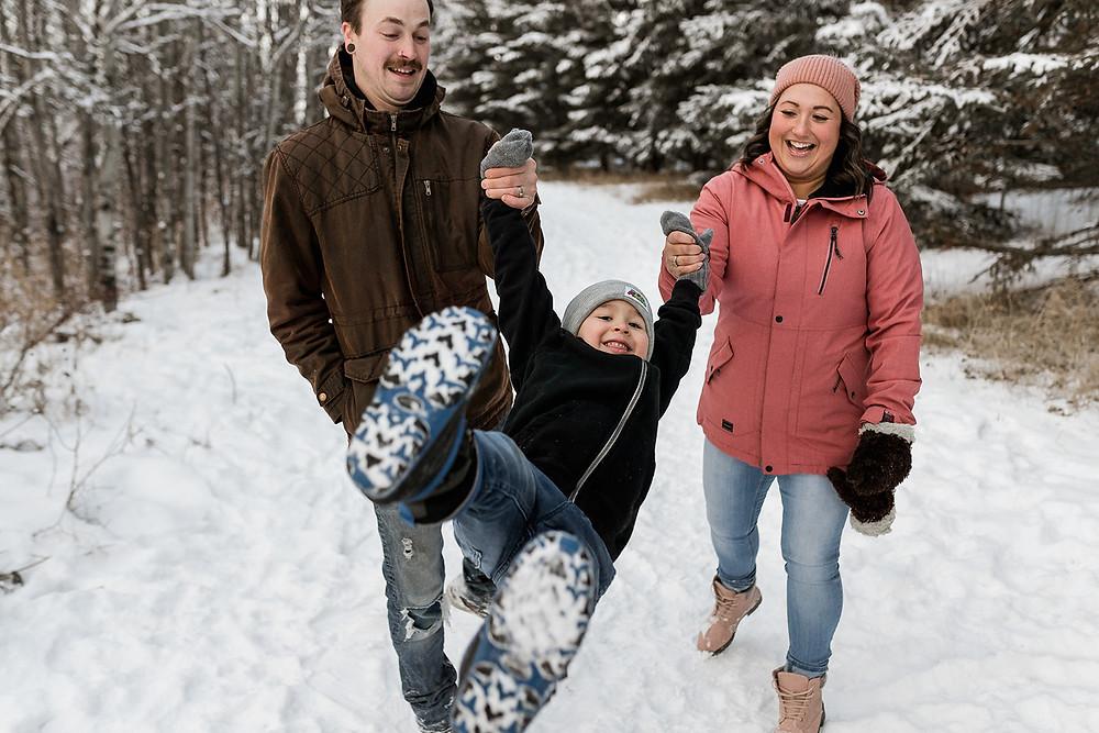 family photos in winter