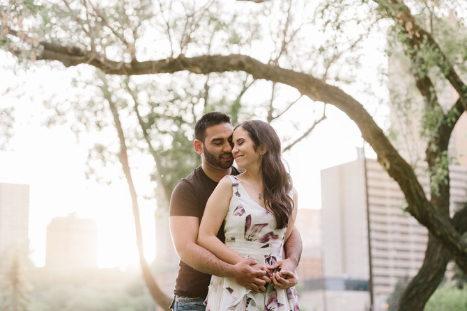 Telus Park Brick and Nature Engagement Session