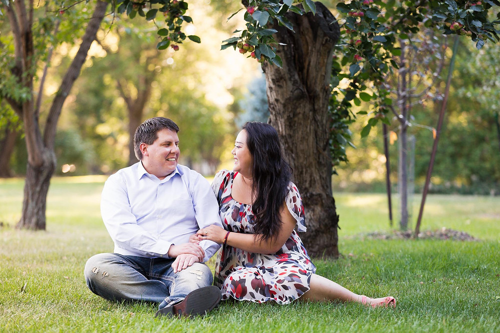 Apple Tree Engagement Photos