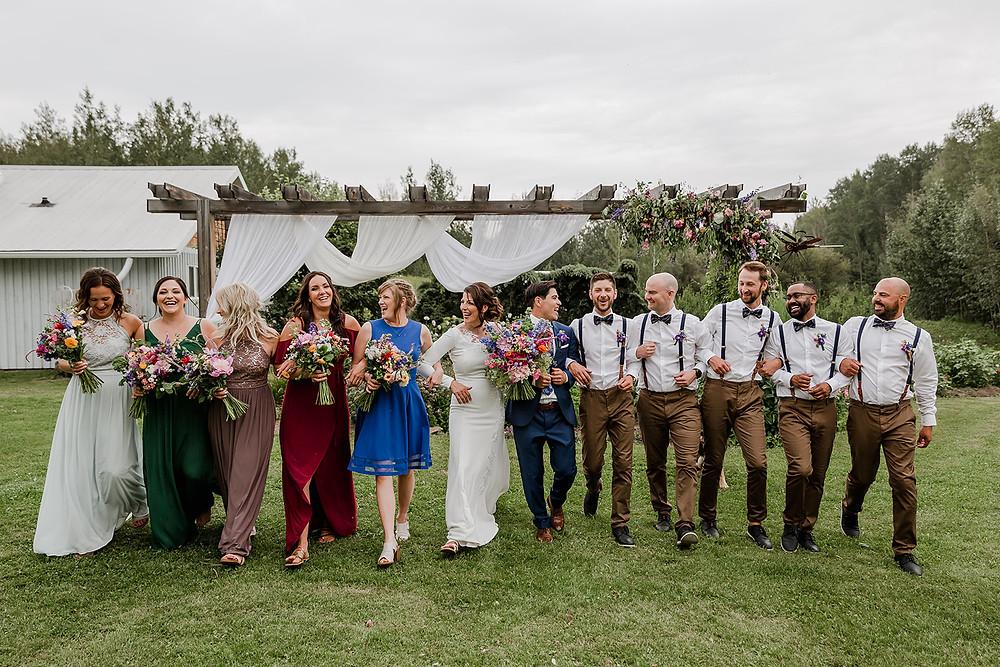 The Wedding Party, Fun wedding party photos, wedding party photo ideas