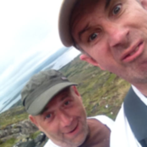 Silly pose of the authors on top of Erris Beg in Connemara 2018