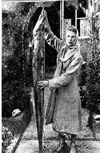 An eel 5ft 6 inches and weighing over 40lbs which was caught by Mrs James Stuart of Dromana House, Cappoquin, at Helvick, Waterford. Irish Press 11.07.1952
