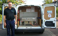 paul and Apple oven cleaning van__optami