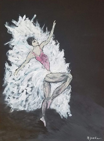 Prima Ballerina. Ballet, Ballerina, Dancer, Painting by Randy Zucker