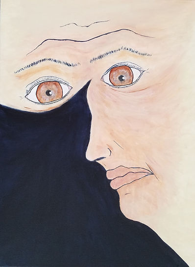 I'll Be Watching You, Classic Rock inspired painting by Randy Zucker