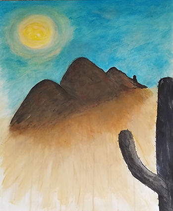 85253, Camelvack Mountain, Phoenix, Paradise Valley, Saguaro, Sun.Painting by Randy Zucker