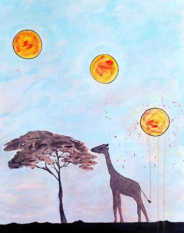 Three Nights On the Serengeti. African Safari Art. Painting by Randy Zucker.