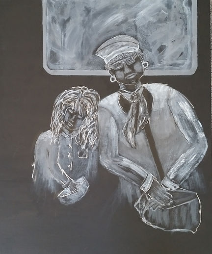 Subway #6. Sixth in the Seen (Scene) on The Subway Series of paintings by Randy Zucker.