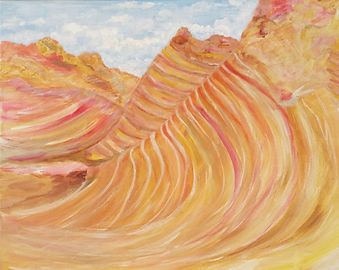 Vermilion Cliffs. Painting by Randy Zucker.