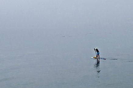 Early Morning Paddle Boarding. hotograph by Randy Zucker.