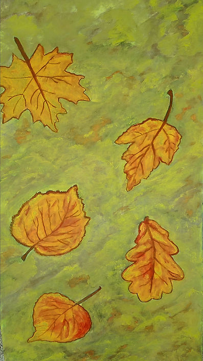 All The Leaves Are Brown, Classic Rock Painting by Randy Zucker