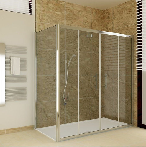 Sliding Double Door Shower Enclosure 6mm Glass Scr