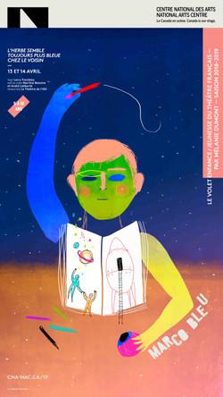 Marco Bleu / graphisme Gauthier Designers