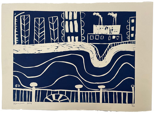 The Thames I (Navy)