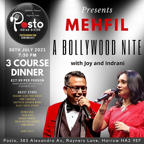 MEHFIL - A Bollywood Nite - Vol#1