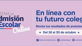 Resultados - Sistema de Admisión Escolar año 2020