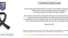CONDOLENCIAS