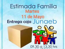 ENTREGA DE CANASTA JUNAEB Martes 11 Mayo