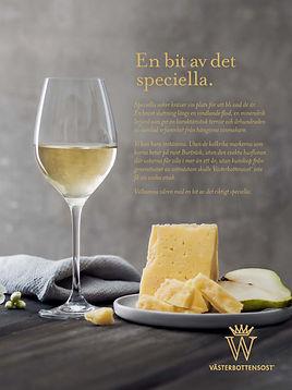 Västerbottensost Brandecho Vitt vin Ost Annons