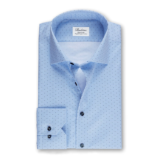 Stenstroms Blue Micro Patterned Shirt
