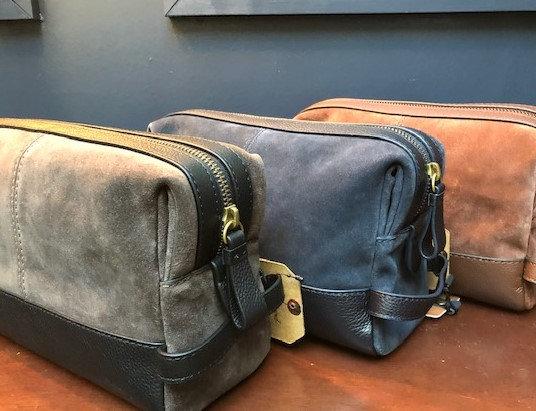 Leather & Suede Washbag
