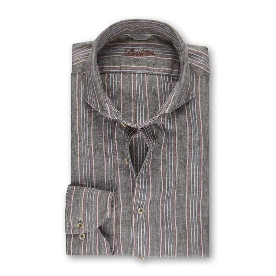 Stenstroms Green Stripe Linen Shirt