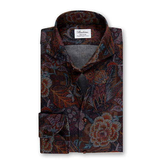 Autumn Paisley Flannel Shirt