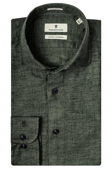 Winter Linen Shirt - Forest