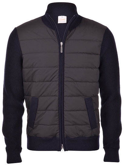 Gran Sasso Wool Padded Jacket - Navy
