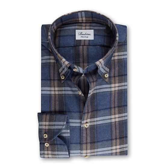 Stenstroms Blue Check Flannel Shirt