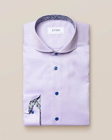 Eton Lilac Twill with Daisy Contrast