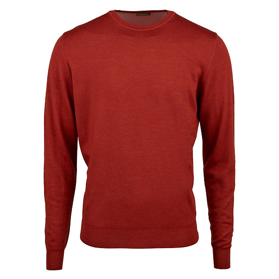 Stenstroms Merino Crew Neck - Rust