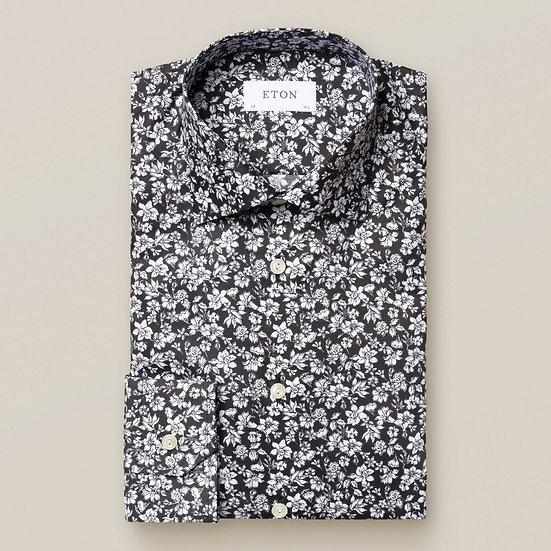 Black & White Floral Print