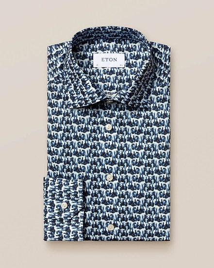 Eton Glass Bottle Print Shirt