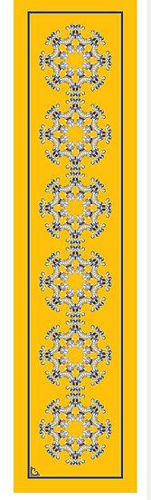 Silk Scarf -Gold Delphinium