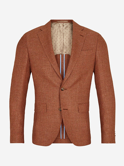 Sand Burnt Orange Hopsack Jacket
