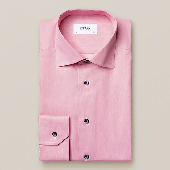 Pink with Navy Swirl Buttons