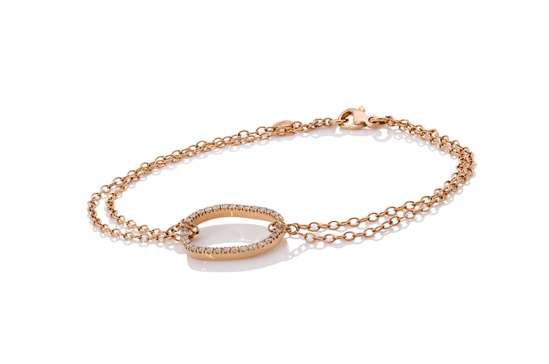 750 ROSÉGOLD ARMBAND AIR 34 brillanten 0,26ct tw-vsi