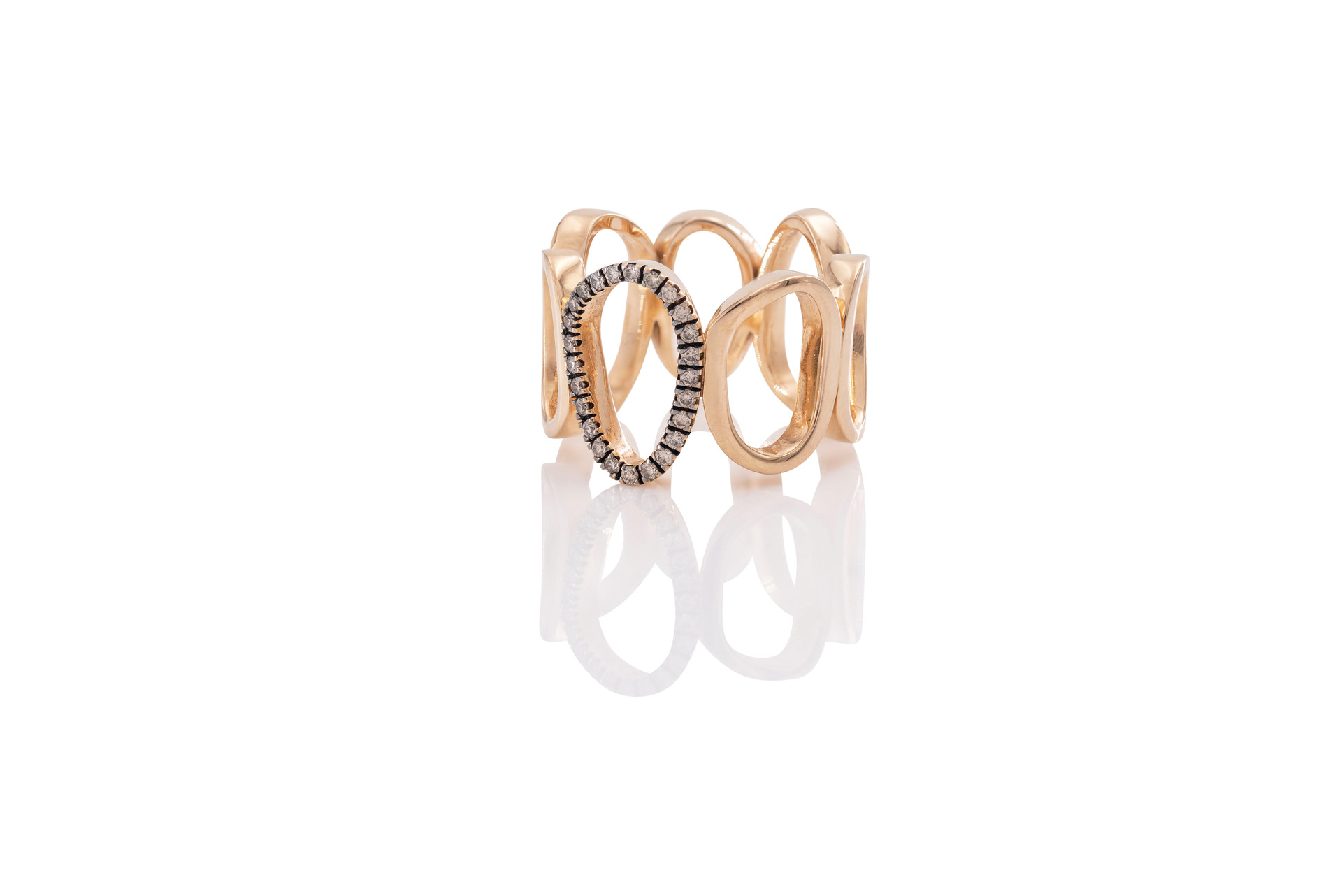 750 ROSÉGOLD RING AIR 25 brillanten 0,19ct c2