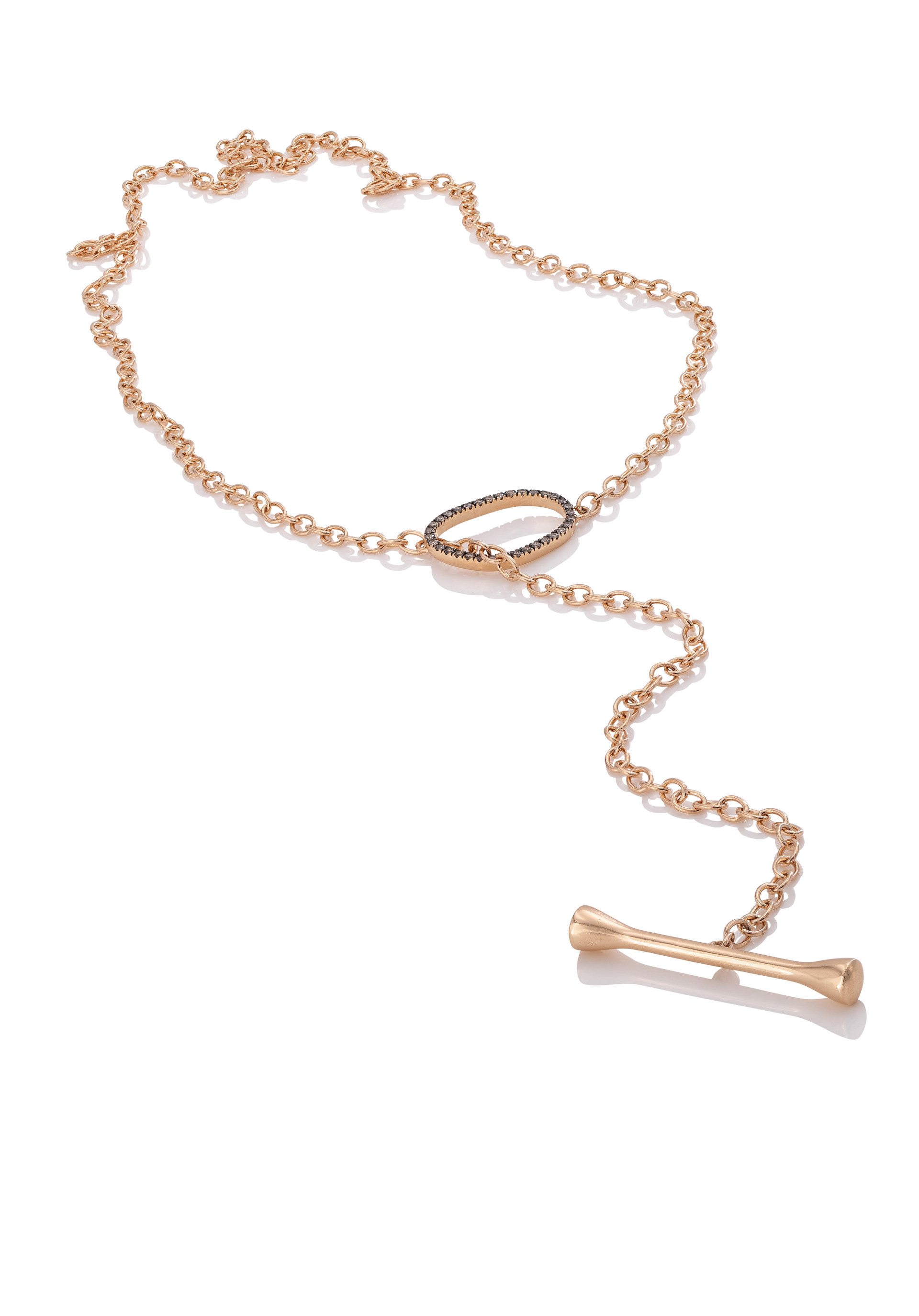 750 ROSÉGOLD KNEBEL-KETTE AIR 34 brillanten 0,26ct c2