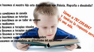Dislexia no se supera con tutorias