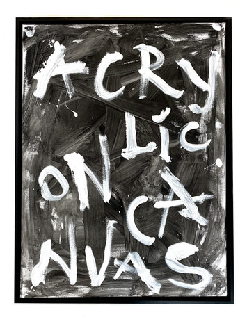 ACRYLIC ON CANVAS #04 / BLACK