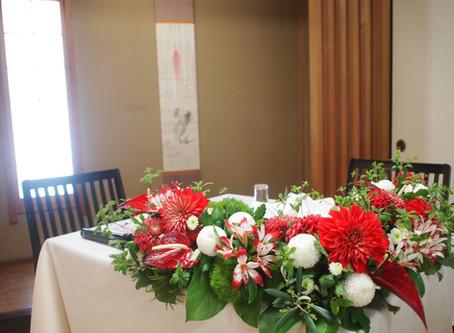 和婚の会場装花