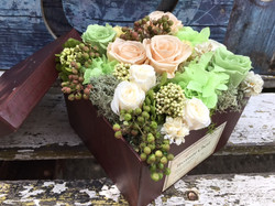 Priserved flower arrangement