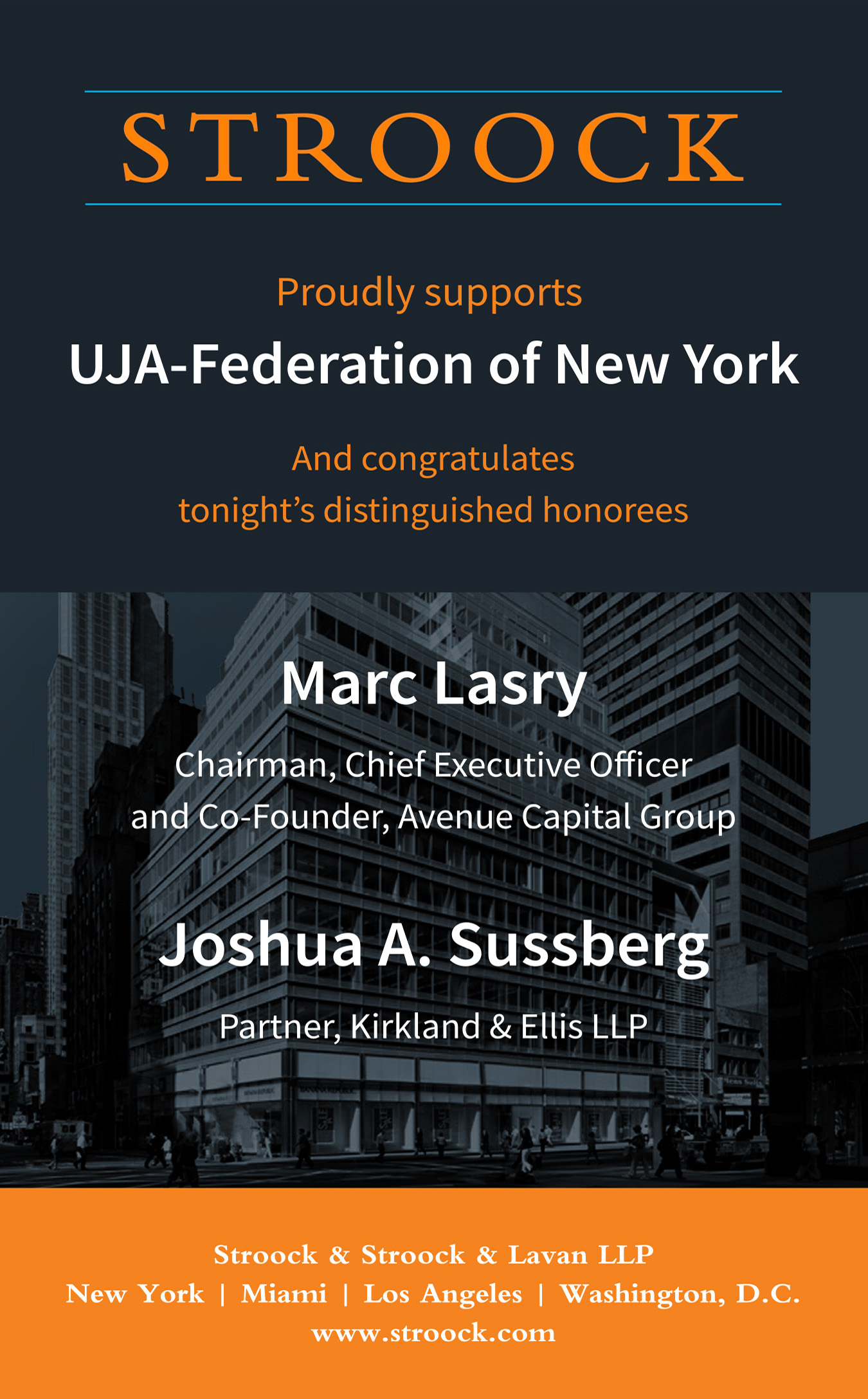 UJA-Federation Dinner Ad